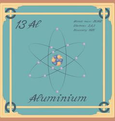 Aluminium colorful icon vector