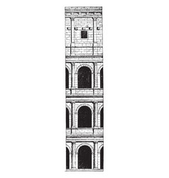 Architecture of the colosseum the construction vector