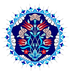 Artistic ottoman pattern series seventy vector
