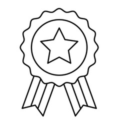 Award badge united state independence day related vector