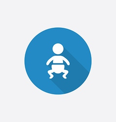 Baby Flat Blue Simple Icon with long shadow vector