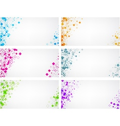 Backgrounds set with geometric pattern vector image