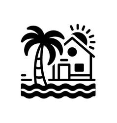 beach house vector image
