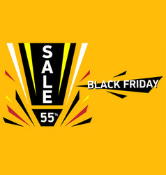 black friday big sale sale discount up to 55 vector image