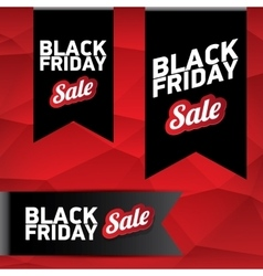 Black Friday sale poster or banner vector image