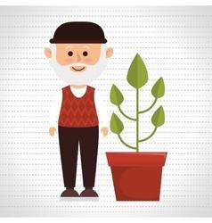 character pot plant vector image