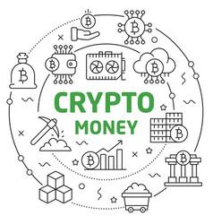 circle bitcoin crypto innovations vector image