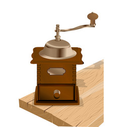 Coffee grinder on white vector