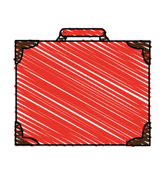 Color crayon stripe image elegant luggage with vector