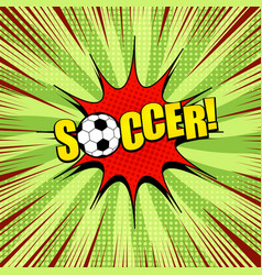 comic bright sport template vector image