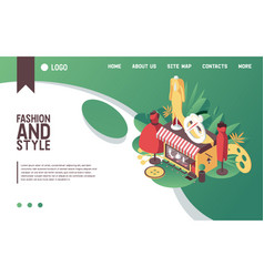 Concept banner or landing page template for vector