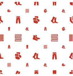 cotton icons pattern seamless white background vector image