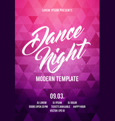 dance night party poster background template vector image