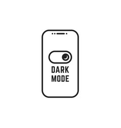 darkmode switch in linear smartphone vector image