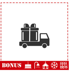 delivery gift icon flat vector image
