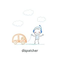 dispatcher vector image