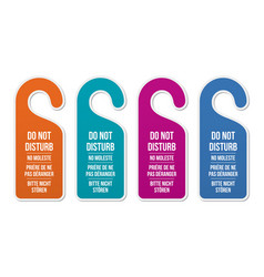 Do not disturb signs different languages vector
