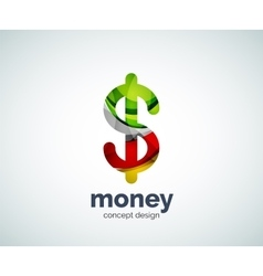 dollar logo template vector image