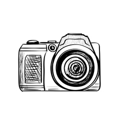 Doodle Camera on a white background vector