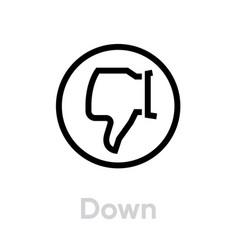 down thumb up icon editable line vector image