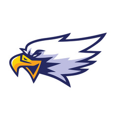 eagle head mascot sports team logo template vector image