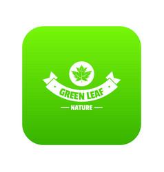 eco nature icon green vector image