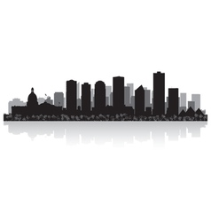 Edmonton Canada city skyline silhouette vector image