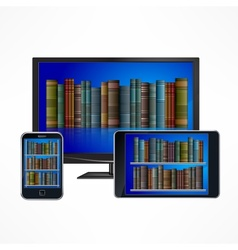 Electronic library devices vector
