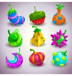 Fantasy fruits vector