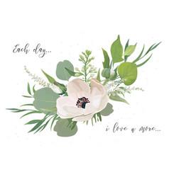 Floral card design with elegant bouquet pink vector