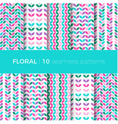 Floral colorful patterns vector
