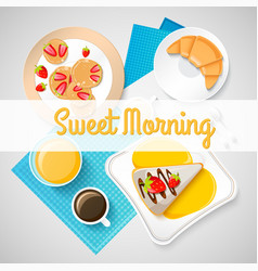 French breakfast concept vector