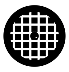 Fruit pie icon simple style vector