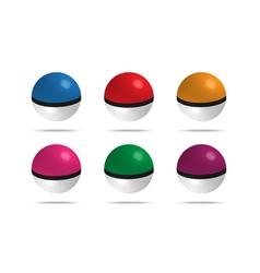 game balls set vector image vector image