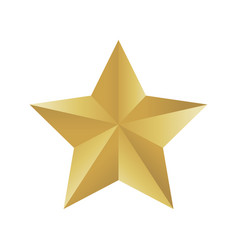 gold colored star shape medal award winning 3d vector image