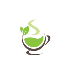 green tea icon design template isolated vector image