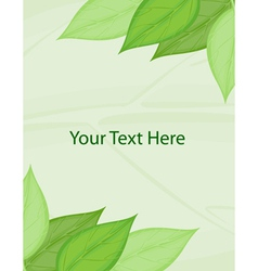 Green template vector image