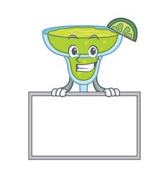 grinning with board margarita character cartoon vector image