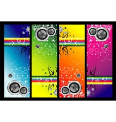 grunge music banners vector image