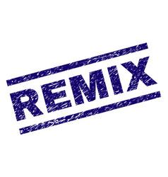 Grunge textured remix stamp seal vector