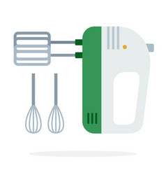 hand mixer with removable corolla flat isolated vector image