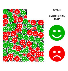Happiness utah state map composition of vector