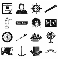 Happy Columbus Day icons vector