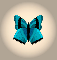 Image of a blue butterfly-demon vector