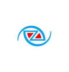 initial letter z logo template design vector image