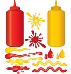 Ketchup and mustard vector