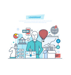 leadership career growth success in work vector image