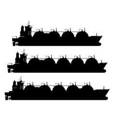 lng carrier vector image