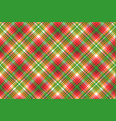 Madras plaid seamless fabric texture vector