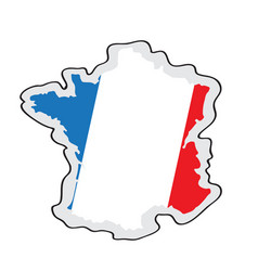 map of france with its flag vector image